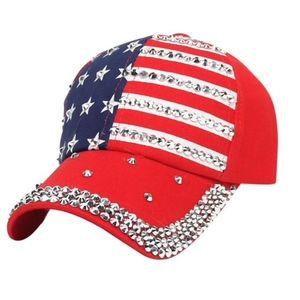 Summer Baseball Cap July 4th American Flag